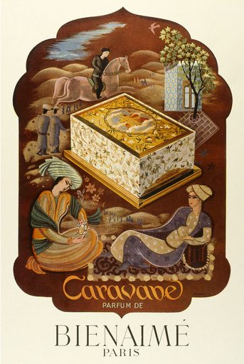 Poster design for Caravane perfume by Bienaime