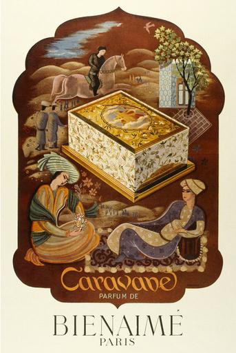 Poster design for Caravane perfume by Bienaime
