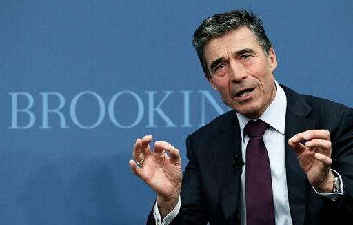 NATO Secretary General Anders Fogh Rasmussen Gives Address At Brookings Institution