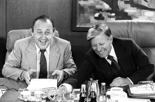 Helmut Schmidt and Hans-Dietrich Genscher