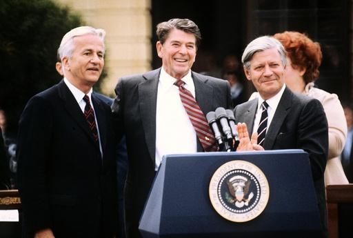 US President Reagan in Berlin 1982