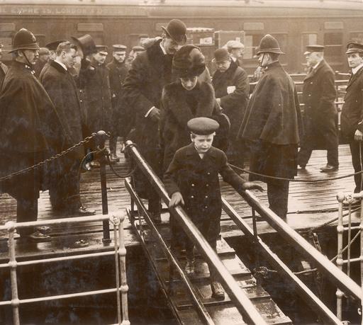 Norwegian royal family embarking at Dover