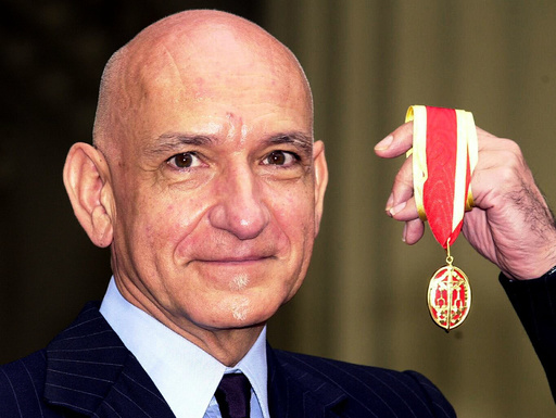 BRITISH ACTOR SIR BEN KINGSLEY AFTER RECEIVING HIS KNIGHTHOOD IN LONDON