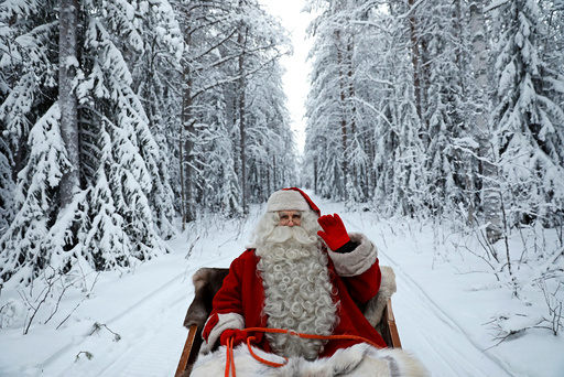 The Wider Image: Visiting Santa in Lapland