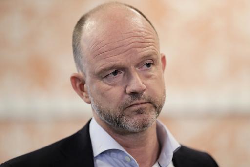 OSLO 20210325.  NHO-sjef Ole Erik Almlid idet partene i lønnsoppgjøret holder pressekonferanse på Hotel Opera i Bjørvika. Foto: Berit Roald / NTB