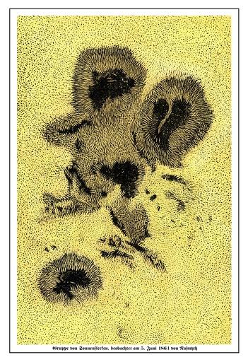 Nasmyth's sunspot observations, 1864