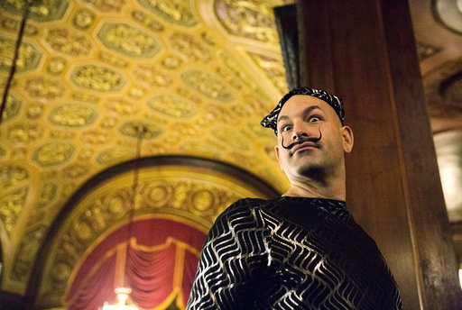 Keith J. Haubrich from Seattle, Washington, poses for a photograph at the 2015 Just For Men National Beard & Moustache Championships at the Kings Theater in the Brooklyn borough of New York