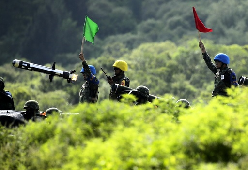 Taiwan holds military drill simulating attack by China