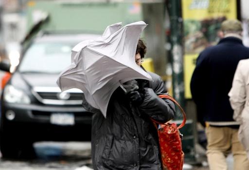 Freezing rain in New York City