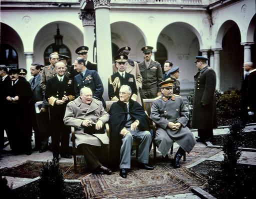 Konferenz v.Jalta/Stalin,Roose,Churchill - Stalin,Roosevelt,Churchill/ Yalta / 1945 - Conf. Yalta/ Staline,Roosevelt,Churchill