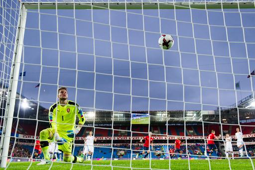 VM-kvalifisering fotball menn: Norge - Tsjekkia.