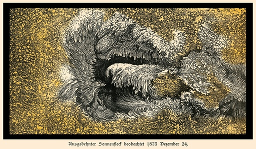 Langley's sunspot observation, 1873
