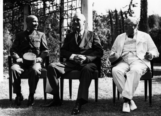 Konferenz von Kairo 1943 - Churchill etc. / Cairo Conference / 1943 -