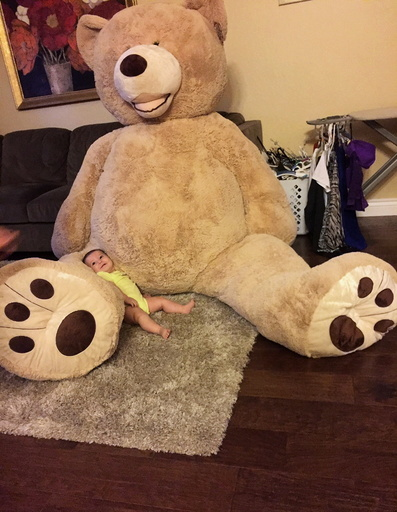 Images of Granddaughter with her Giant Teddy is Too Cute for Internet to Bear!