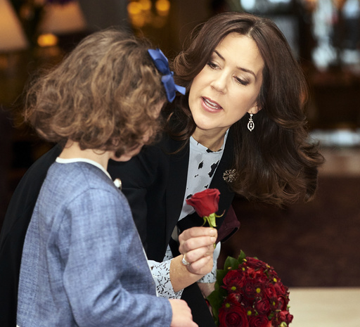crown princess mary handing out awards