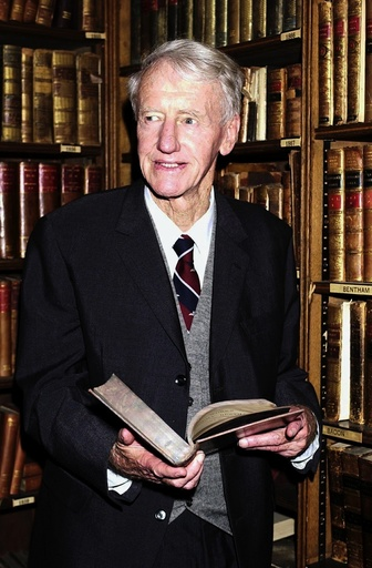 Former Prime Minister of Southern Rhodesia Ian Smith Pictured at the Oxford union. - Britain