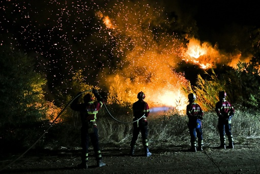 Forest fire in Serra de Monchique
