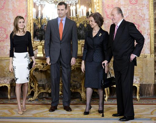 Spanish Royals Meet Famous Writers in 'Miguel De Cervantes' 2013 Literature Award