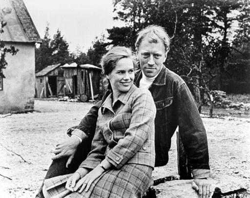 SHAME, THE (1968), directed by INGMAR BERGMAN. MAX VON SYDOW; LIV ULLMANN.