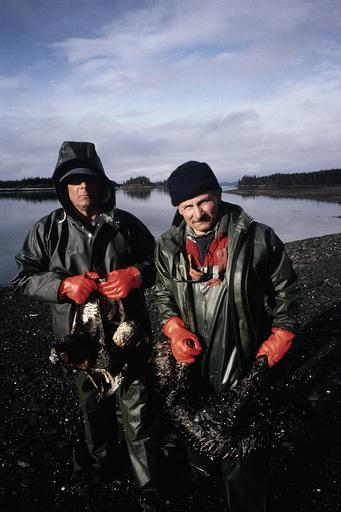 ALASKA. EXXON, VALDEZ OIL SPILL.