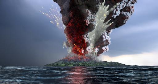 Krakatau volcano explosion, artwork