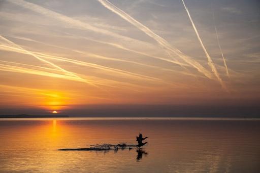 Sunrise at the Balaton Lake