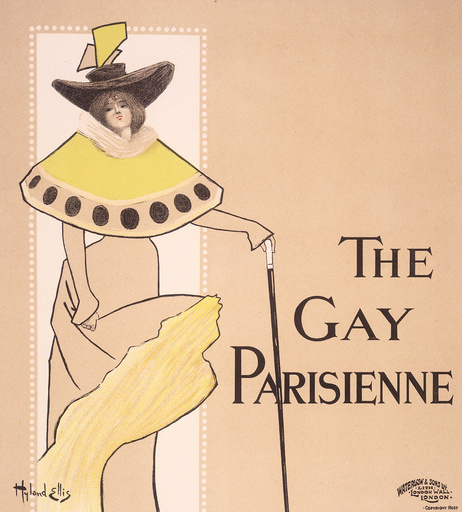 The Gay Parisienne / Plakat Hyland Ellis - The Gay Parisienne / Poster Hyland Ellis - The Gay Parisienne/ Affiche Hyland Ellis