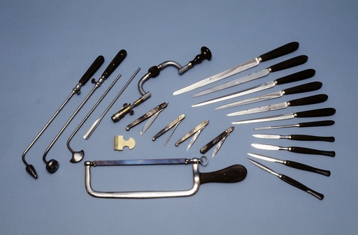 Surgical instruments, circa 1850
