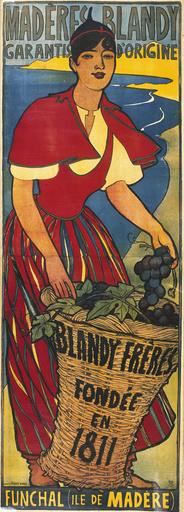 Poster advertising Blandy Freres madeira wine