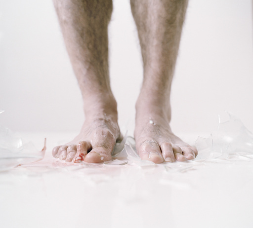 Adult's bloody feet