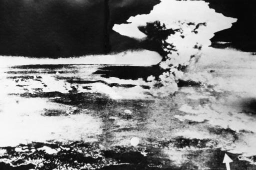 Atompilz über Hiroshima / Foto - Mushroom cloud over Hiroshima / Photo - Deuxième Guerre mondiale / Guerre du Pac