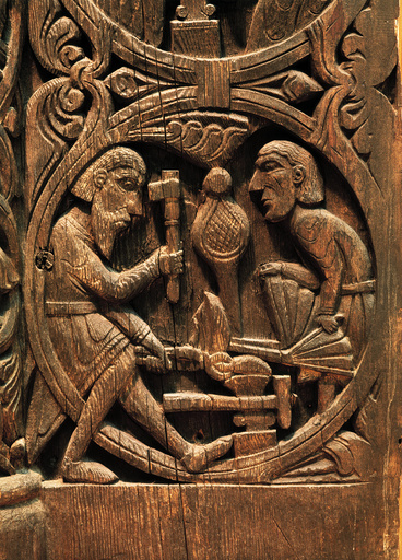 Stabkirchenportal von Hylestad / um 1200 - Portal of a stave church / Norwegian - Art norvégien, v. 1200.