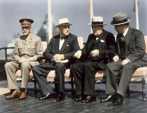 Konferenz von Quebec 1944, Gruppenfoto.. - Leaders / Quebec Conference / 1944 - Conf. de Québec 1944, Photo de groupe