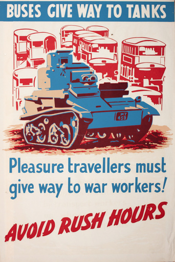 Poster: Buses give way to tanks