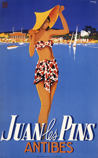 Juan les Pins travel poster