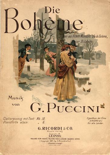 Puccini, La Boheme / Klavierauszug 1897 - Puccini / La Boheme / Piano Score / 1896 -
