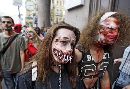 Zombie walk 2016 in Kiev
