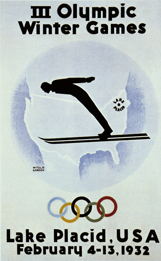 Winterolympiade 1932 Lake Placid /Plakat - Winter Olympics 1932 Lake Placid /Poster -