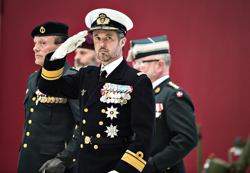 HRH Crown Prince Frederik attends parade for the Military Special Operation's Command