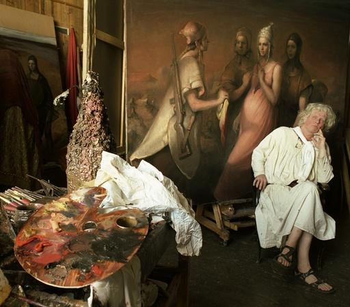 Odd Nerdrum i sitt atelier. Kunst. Kunstner. Maler. Maleri.