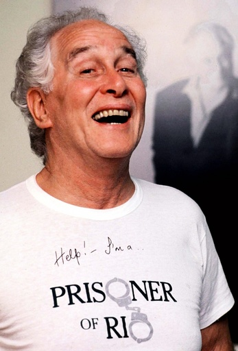 File photograph shows Great Train Robber Ronnie Biggs posing for a photograph in Brazil
