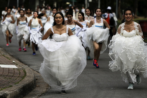 Brides-to-be participate in the