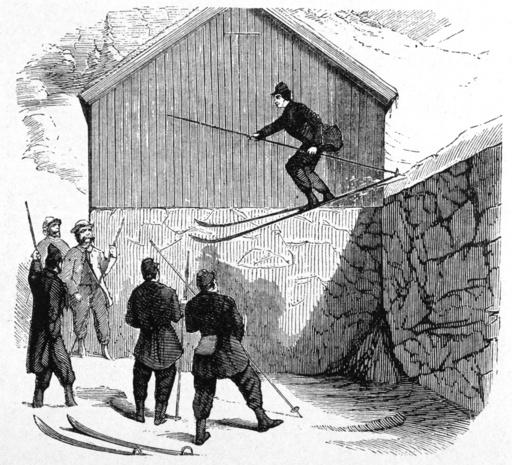 NORWEGIAN SKI JUMP 1862