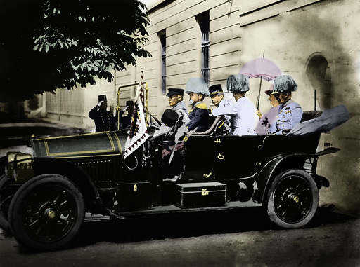 Franz Ferdinand + Frau in Sarajewo 1914 - Franz Ferdinand / Assassination 1914 -