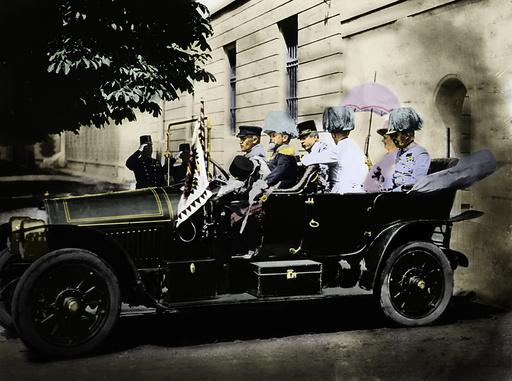 Franz Ferdinand + Frau in Sarajewo 1914 - Franz Ferdinand / Assassination 1914 -