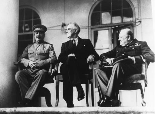 Konferenz von Teheran 1943 - Stalin,Churchill,ett. / Teheran / 1943 - Stalin,Churchill,etc. / Téhéran / 1943