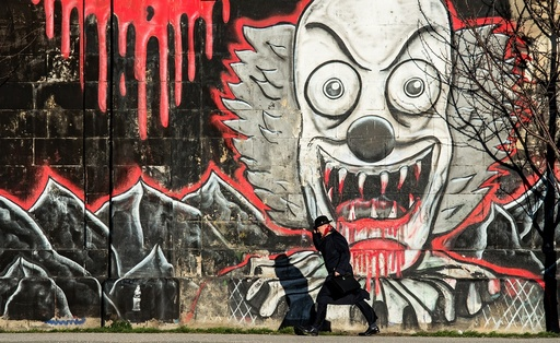 Graffiti along the Danube canal in Vienna
