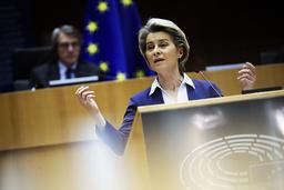 EU-kommisjonens president Ursula von der Leyen er svært glad for at Donald Trump ikke får fortsette som USAs president. Foto: Francisco Seco / AP / NTB