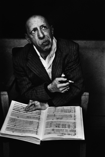 USA. Igor STRAVINSKY. Columbia Records Studios.