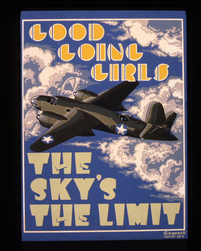 2.Wk./USA/ Luftwaffe, Bomber / Plakat - WWII, US Air Force, bomber / poster -